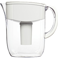 Brita Everyday Water Filter Pitcher, 80 oz, Clear/White
