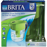 Brita Grand Water Filter Pitcher, 80 oz, Green