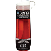 Brita 35811 Hard Sided Water Filtration Bottle, 23.7 oz, Plastic, Persimmon Body
