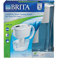 Brita Slim Water Filter Pitcher, 40 oz, White