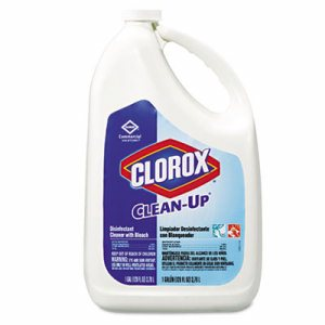 Clean-Up Disinfectant Cleaner with Bleach, Fresh, 128 oz Refill Bottle