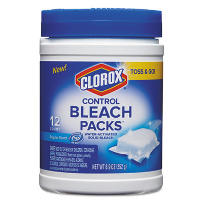 Control Bleach Packs, Regular, 12 Tabs/Pack, 6 Packs/Carton