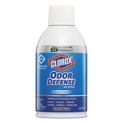 Commercial Solutions Odor Defense, Wall Mount Refill, Clean Air, 6oz,12/CT