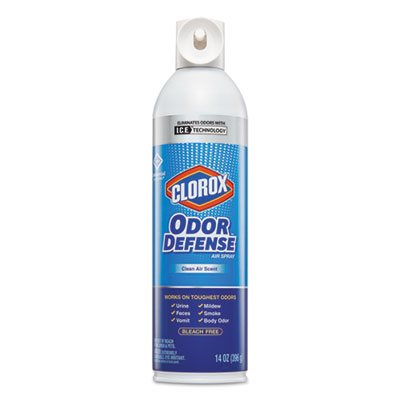 Commercial Solutions Odor Defense, Clean Air,14oz Aerosol,12/Carton