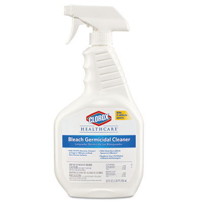 Bleach Germicidal Cleaner, Unscented, 22 oz Spray Bottle