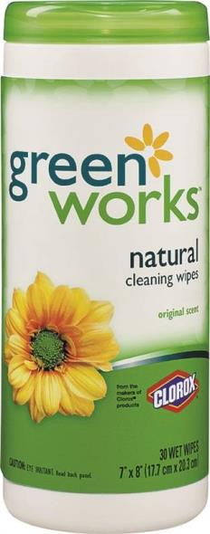 Green Works 30311 Cleaning Wipe, Plastic