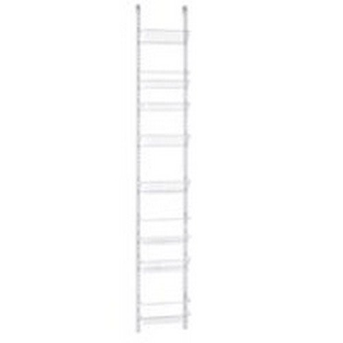 Adjustable 8-Tier Wall and Door Rack, 12-Inch