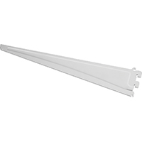BRACKET SHELF DUAL 20IN WHITE