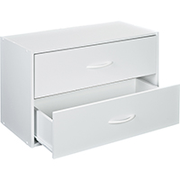 Closetmaid 8984-00 Stackable Drawer Organizer, 15-3/4 in L x 24 in W x 12 in H, Wood, White