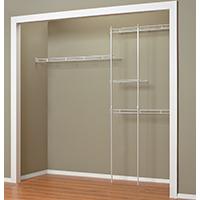 Closetmaid 1628 Closet Organizer Kit, 70 in L x 96 in W x 12 in D, Steel, White