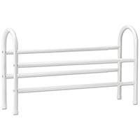 Closetmaid 8037 Expandable Shoe Rack, 16-3/4 in H x 42-1/2 in W x 7-1/2 in D, Steel, White
