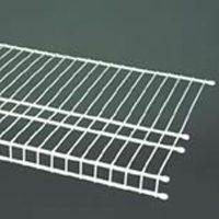 SuperSlide 4726 Wire Shelf, 48 in L x 16 in W x 1 in T, 50 lb, Steel, Nickel
