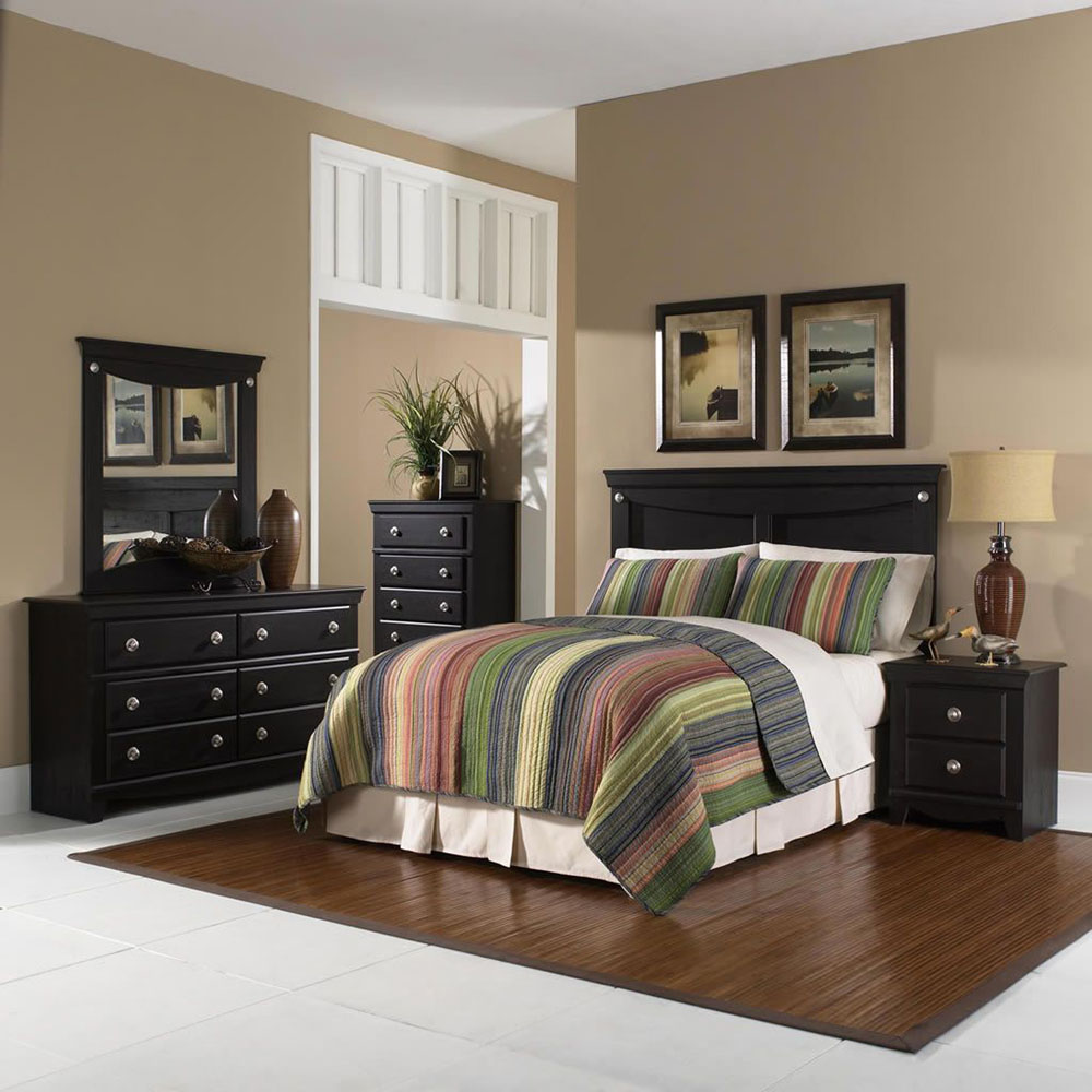 Southampton 5PC Bedroom Suite: QBed, Dresser, Mirror, Chest, Nightstand