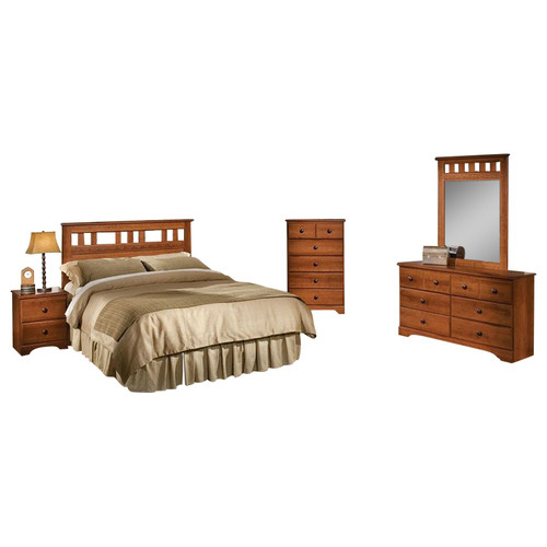 Seasons 5PC Bedroom Suite: QBed, Dresser, Mirror, Chest, Nightstand