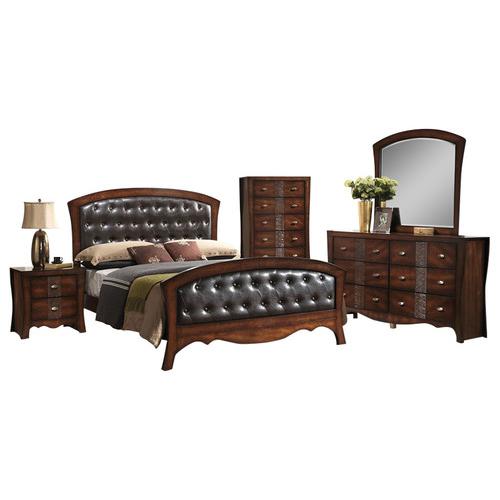 Fairmount 5PC Bedroom Suite: KBed, Dresser, Mirror, Chest, Nightstand