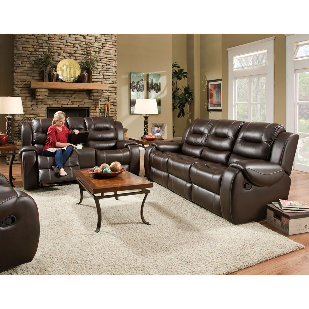 Clark 3pc Living Set: Sofa, Loveseat, Recliner