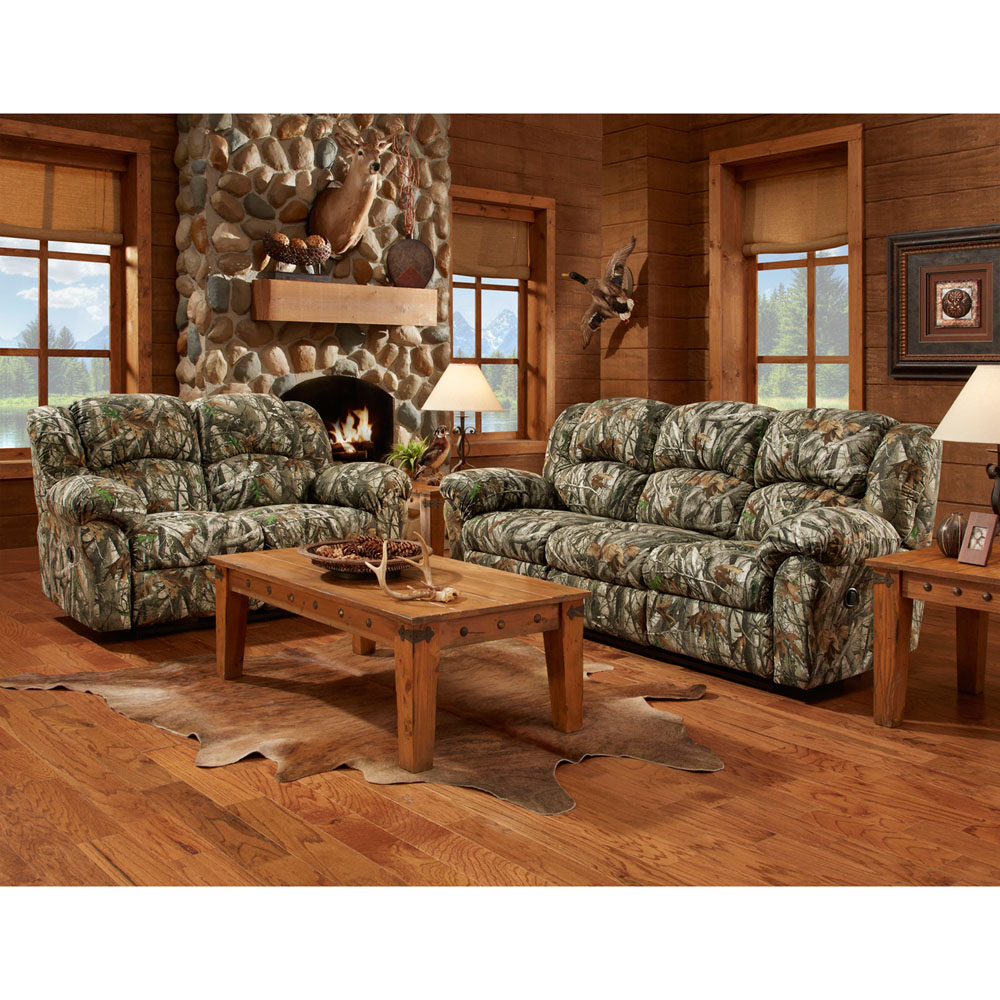 Camo 3pc Living Set: Sofa, Loveseat, Recliner