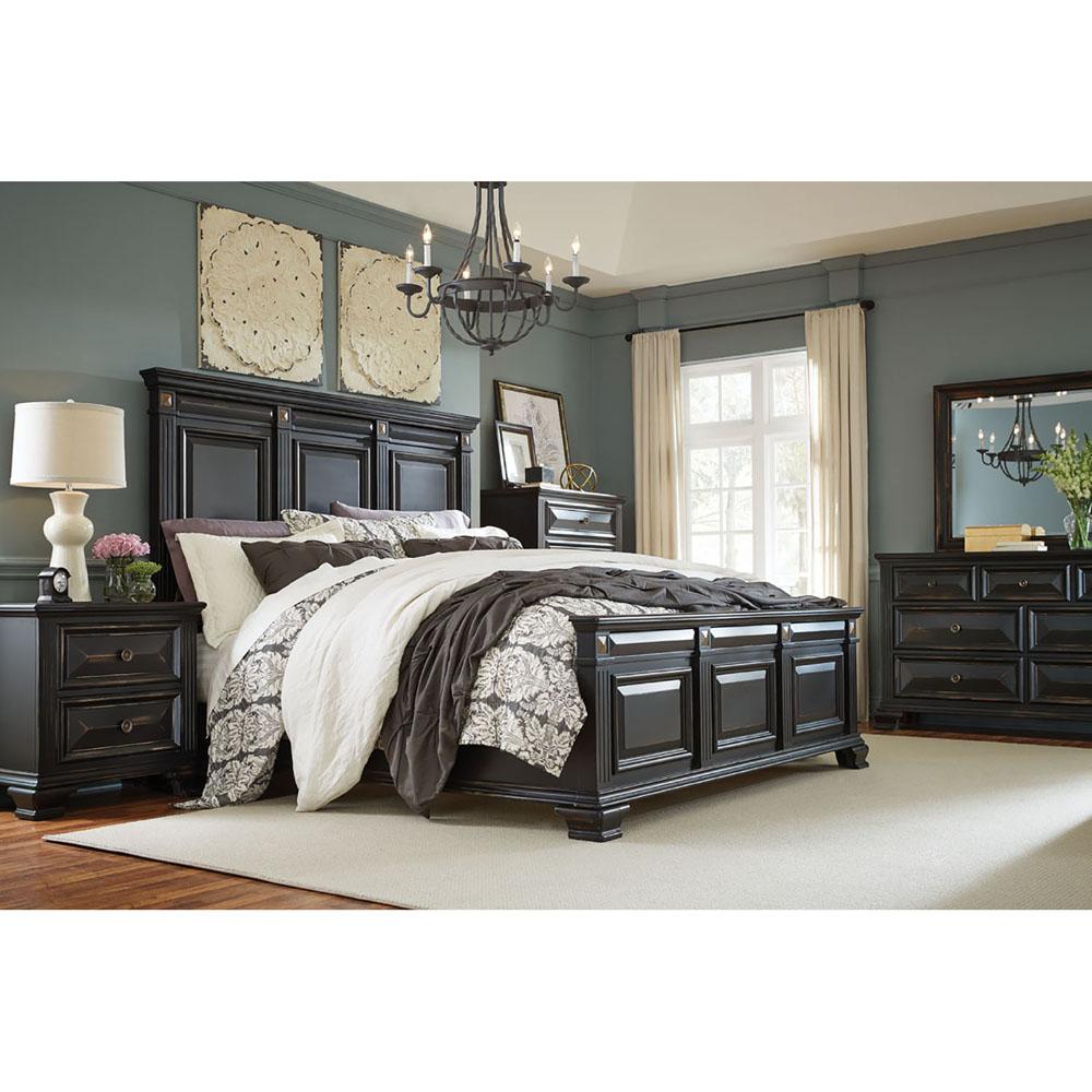 Heritage 5PC Bedroom Suite : Qbed, dresser, mirror, chest, nightstand