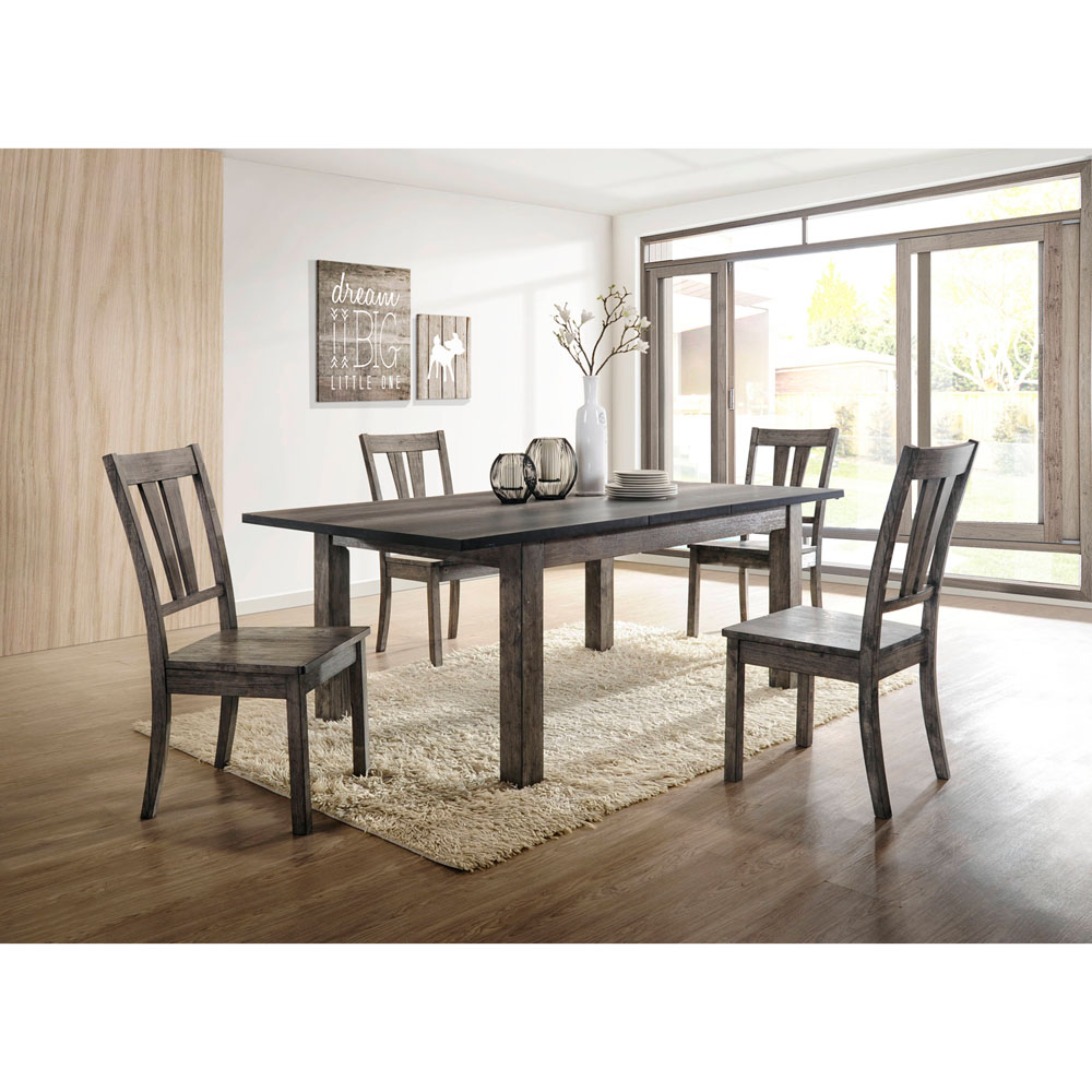 Drexel Dining 5PC Set - 78x42x30H table, 4 Wood Side Chairs