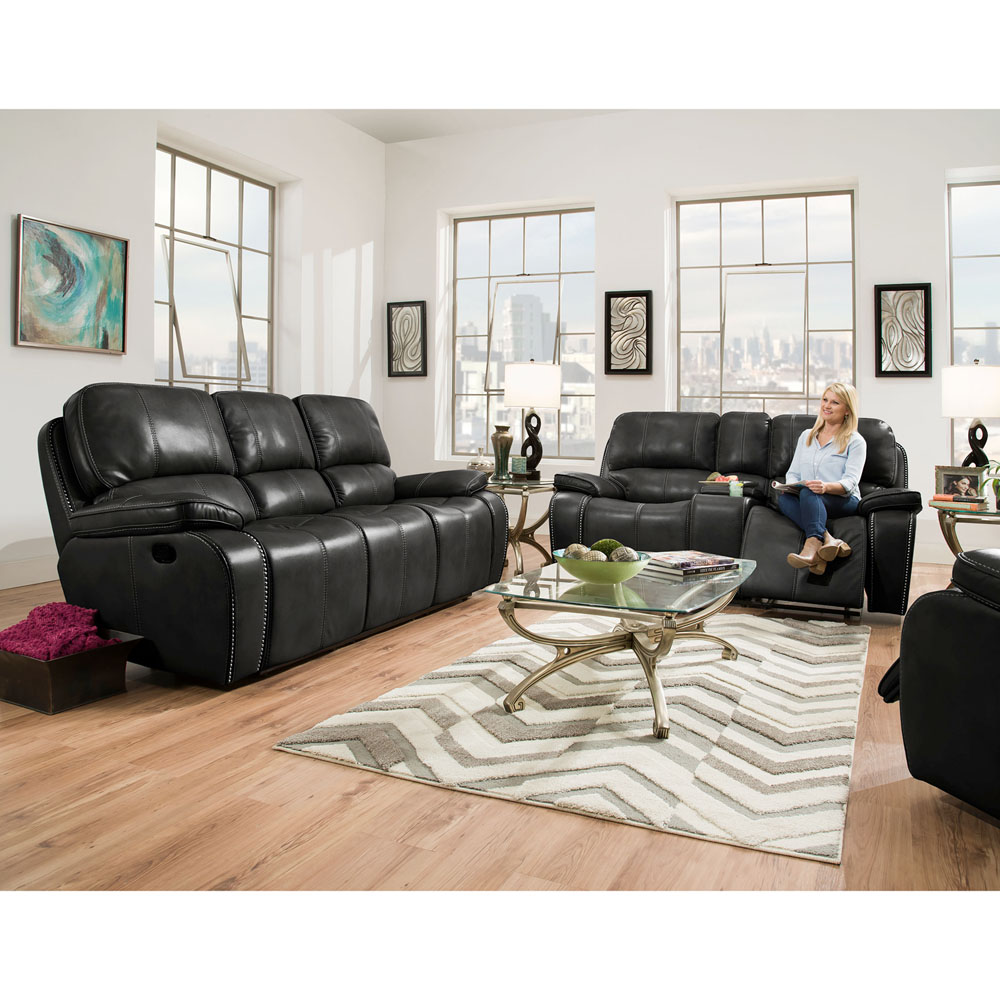 Alpine 2pc Living Set: Sofa, Loveseat