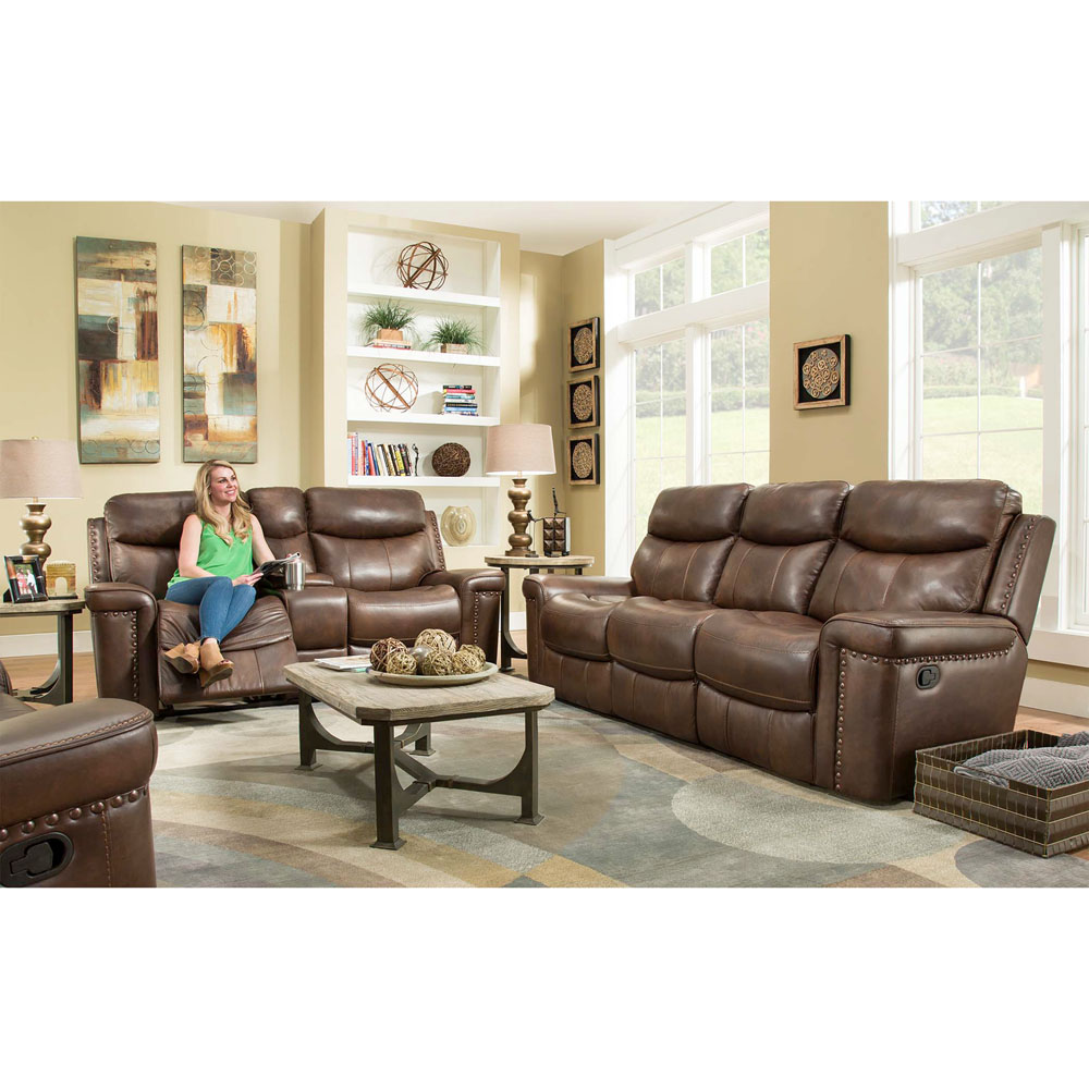 Aspen 2pc Living Set: Sofa, Loveseat