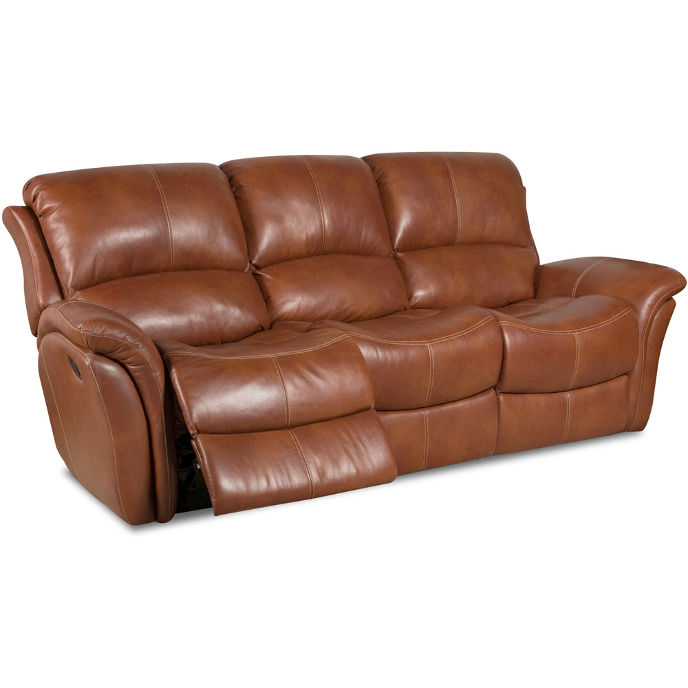 Appalachia 100% Leather Double Reclining Sofa
