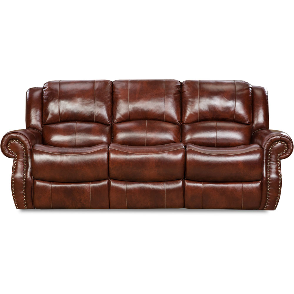 Telluride 100% Leather Double Reclining Sofa