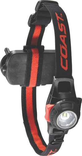 COAST� FOCUSING LED HEADLAMP, 196 LUMENS, USES 3 AAA BATTERIES (INCLUDED)