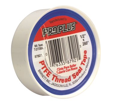 PROPLUS TEFLON TAPE, 1/2 IN. X 520 IN., PACK OF 10