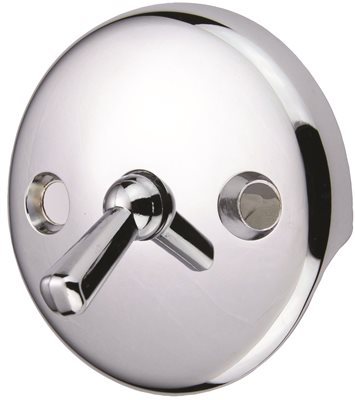 BATH DRAIN WITH TRIP LEVER FACE PLATE
