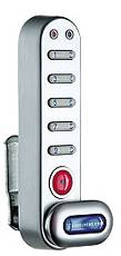 CODE LOCKS� ELECTRONIC CAM LOCK FOR 1/4-INCH TO 1-INCH MATERIAL, POWDER-COATED SILVER