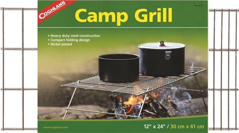 Coghlan?s 8775 Heavy Duty Camp Grill, 24 in L X 12 in W, Steel