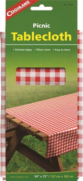 Coghlan'S 7920 Tablecloth, 72 in L x 54 in W, Vinyl, Red