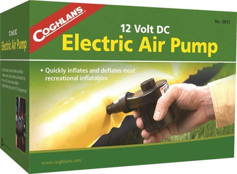 Coghlan?s 0815 Electric Corded Air Pump, 12 VDC, 5.5 A, 0.54 psi