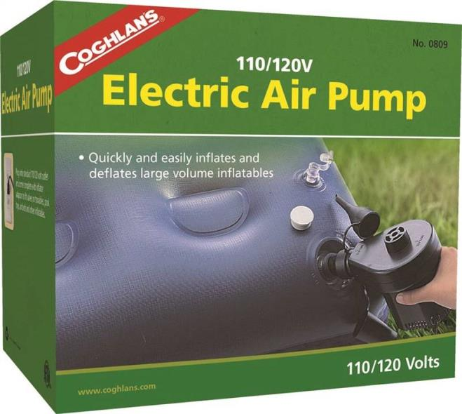 Coghlan?s 0809 Electric Corded Air Pump, 110/120 V, 155 W, 0.49 psi