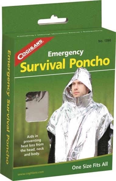Coghlan?s 1390 Emergency Survival Poncho, Polyethylene