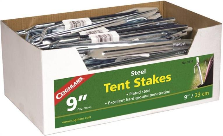 Coghlan'S 9810 Tent Stake 9 in L, Steel