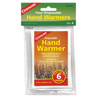 Coghlans 8797 Disposable Hand Warmer, 6 hr, Black