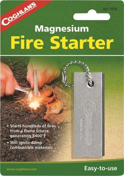 Coghlan'S 7870 Magnesium Fire Starter, Silver
