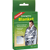 Coghlan'S 8235 Emergency Blanket, 82-1/2 in L x 52 in W, Aluminized, Non Stretch Polyester
