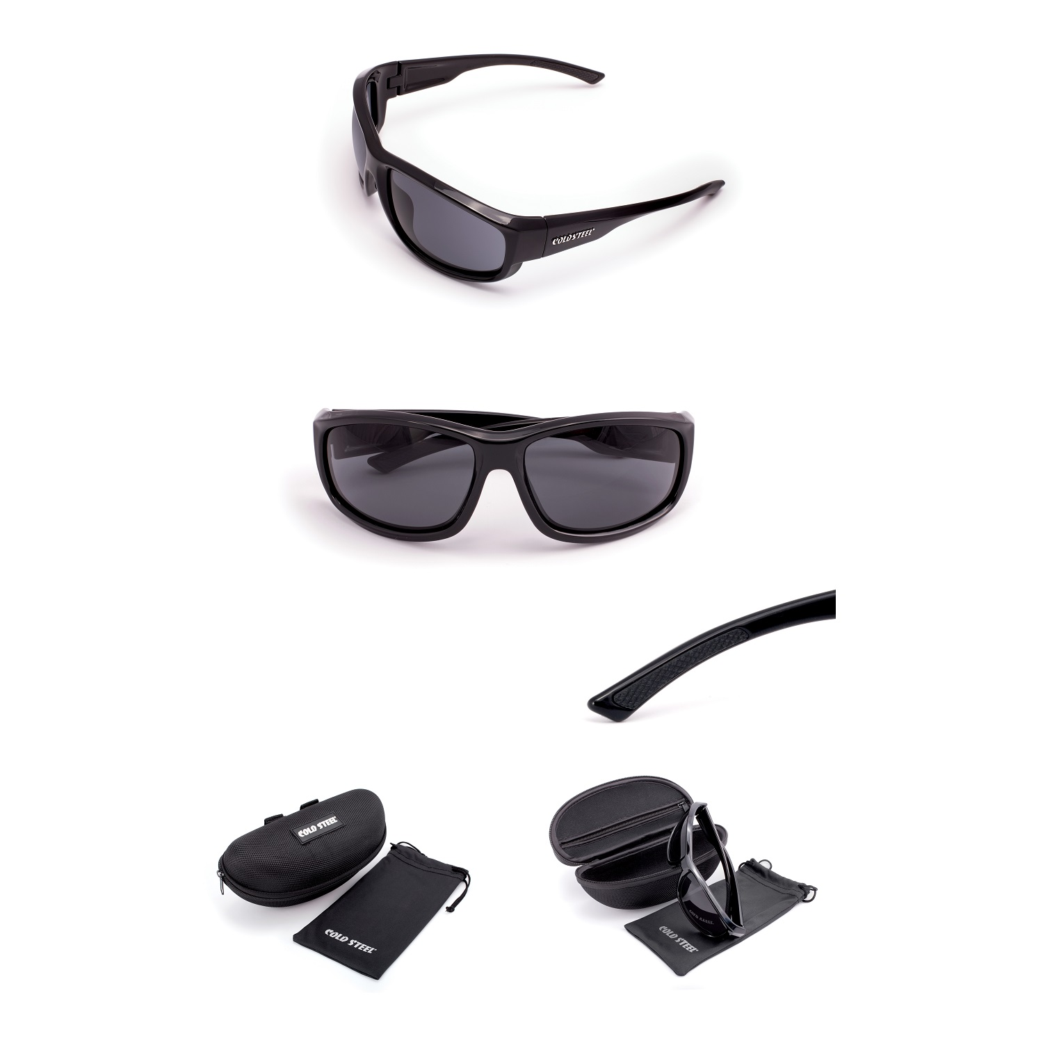 Battle Shades Mark II, Black Gloss Frame, Gray Lens