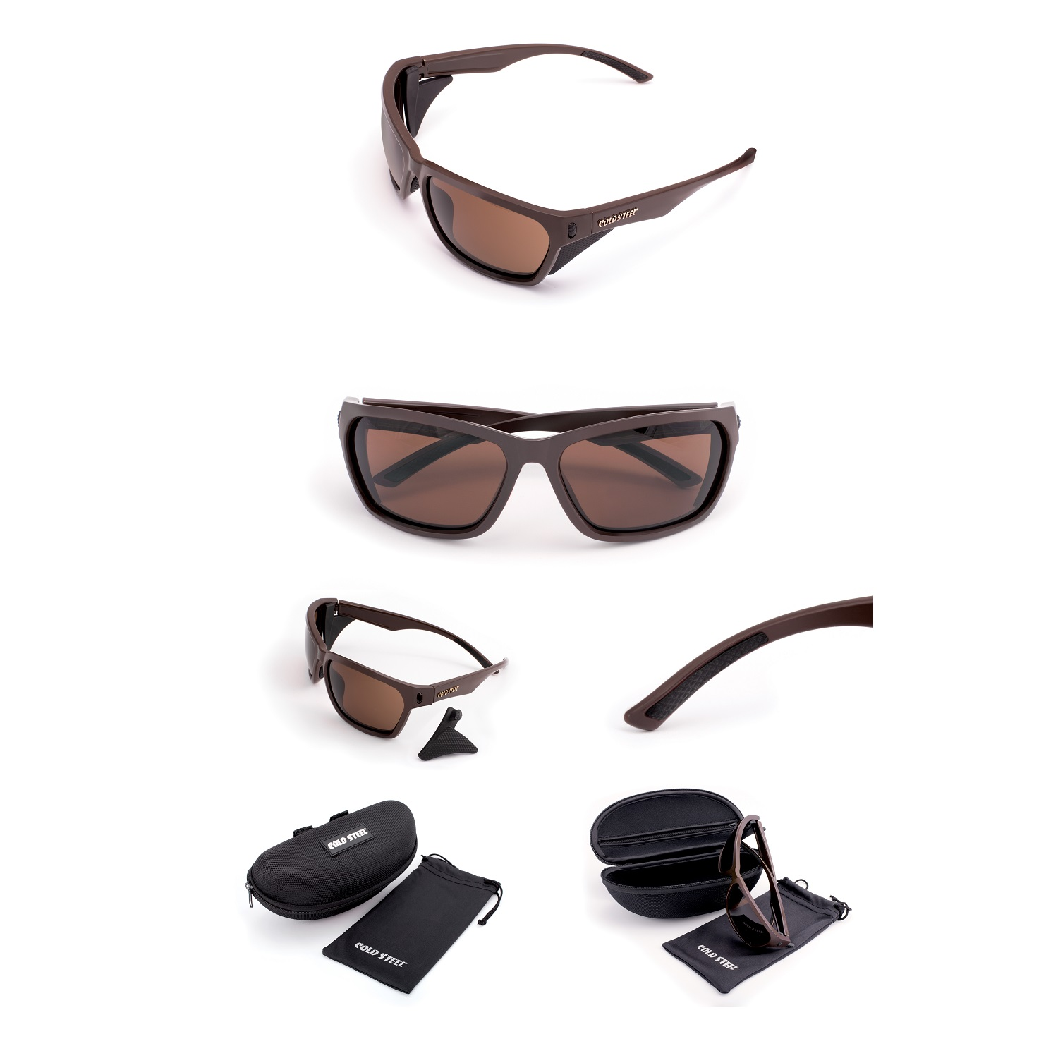 Battle Shades Mark III, Dark Matte Brown Frame, Brown Lens