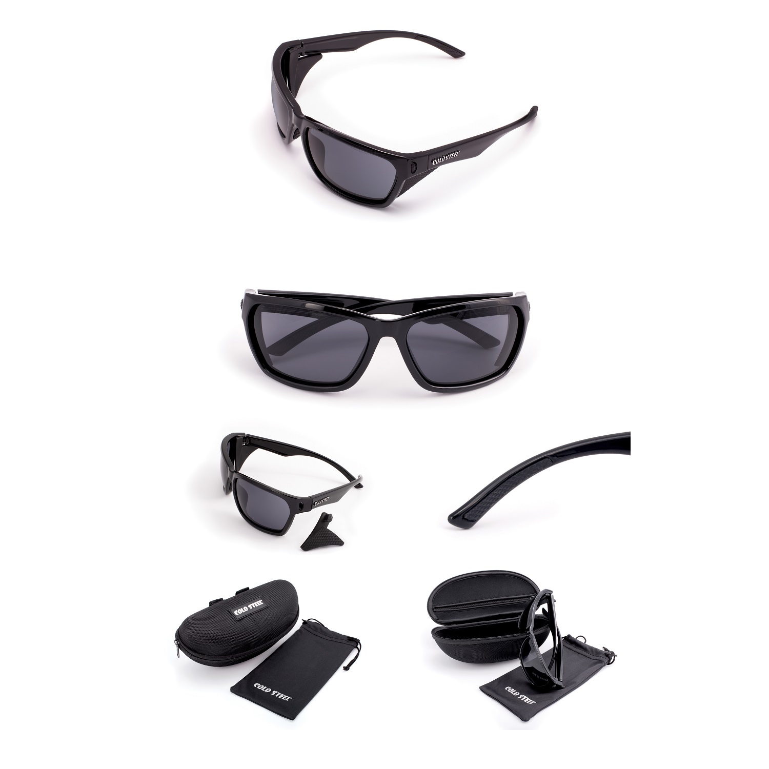 Battle Shades Mark III, Gloss Black Frame, Gray Lens