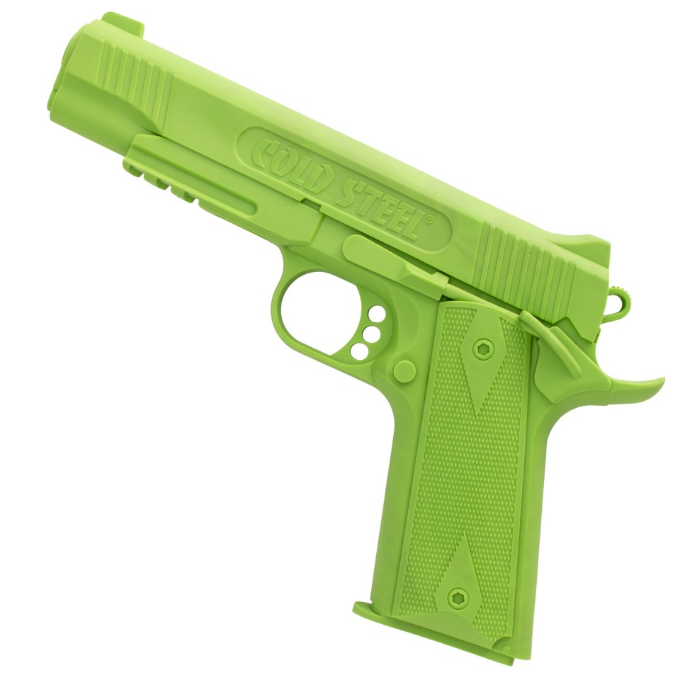 Cold Steel 1911 Rubber Training Pistol (Green Colored Polypropylene)