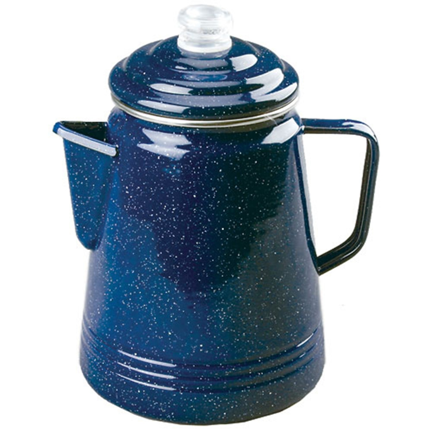 Coffee Percolator, Enamel, Blue, Double Coated, 14 Cup