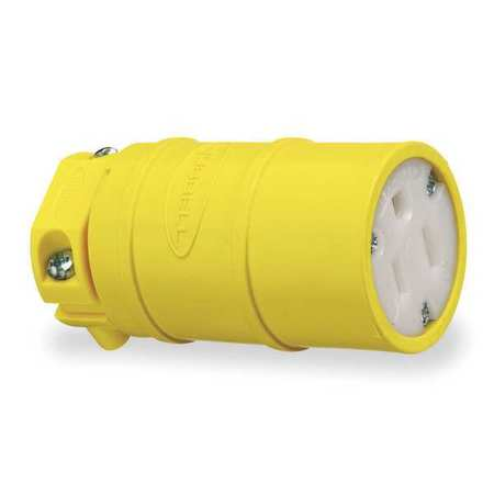 Perma-Grip 059910000 Female Heavy Duty Replacement Electrical Connector, 125 V, 15 A, Yellow