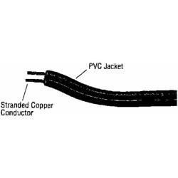 60000-66-07 18/2 SPT-1 Bulk Lamp Cord, 300-Volt 18-Gauge 250-Feet Spool, Brown