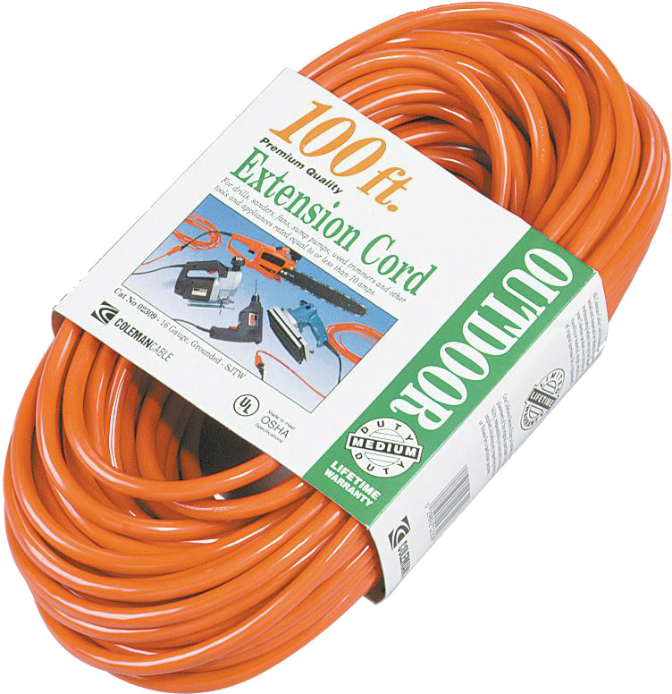 100-FOOT 16/3 OUTDOOR EXTENSION CORD
