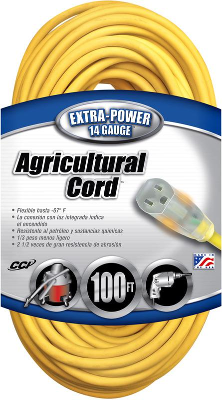 014/3 100 Ft. Yellow Extension Cord