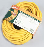 012/3 100 Ft. Yellow Extension Cord